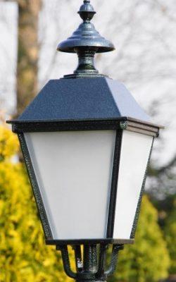 klosz do lampy ogrodowej w stylu retro