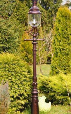 stylowa lampa ogrodowa