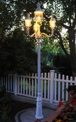 czteroramienna latarnia do ogrodu