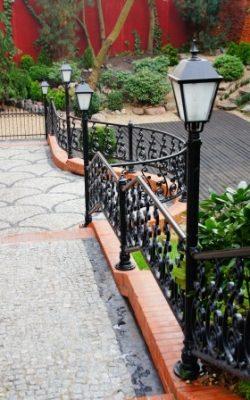 niskie lampy ogrodowe retro