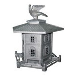 aluminiowy karmnik dla ptaków w stylu retro