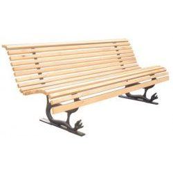 ławka ogrodowa drewniana na ozdobnych płozach