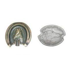 popielniczki ozdobne odlewane z głową konia lub psa