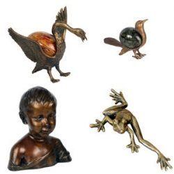 rzeźby i figurki ozdobne odlewane